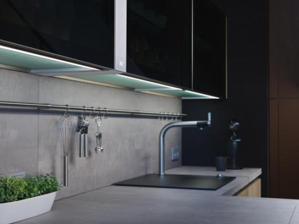 Glasschränke mit Dekorglas parsol dkl. © ewe Küchen