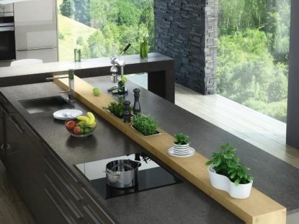 Dura quarz, kombiniert mit Wildeiche © ewe Küchen