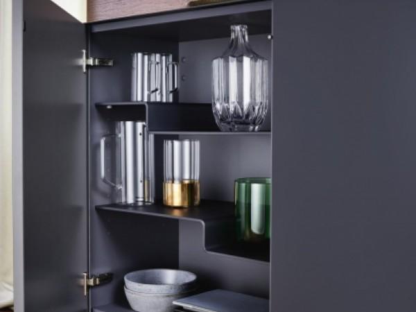 Asymetrische Oberschrankfächer © ewe Küchen