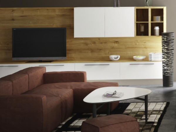 Verschmelzung von Küchen- und Wohnraumeinrichtung © FM Küchen