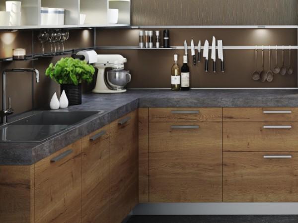 FM Küche mit perfekter Holznachbildung © FM Küchen