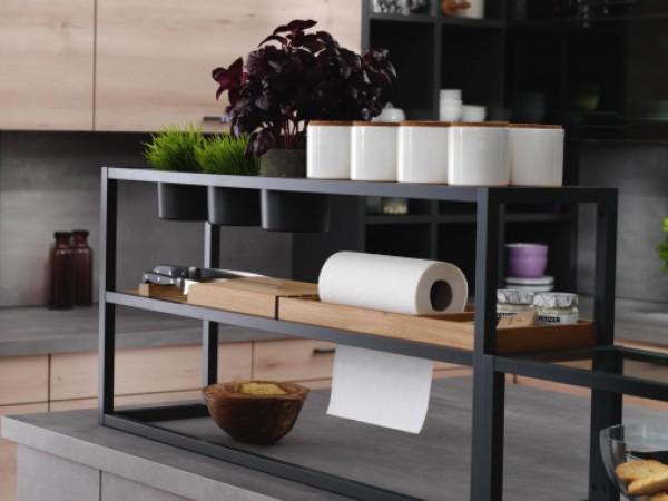 """Alurahmen-System """"Komfort Shelf"""" © FM Küchen"""