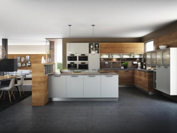 FM Küche Hammerleiten in honigeiche © FM Küchen