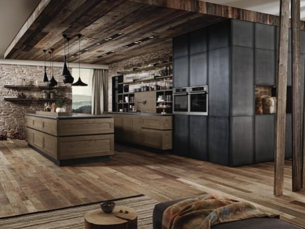 FM Küche Nordkamm mit Fronten in Eisenoptik © FM Küchen